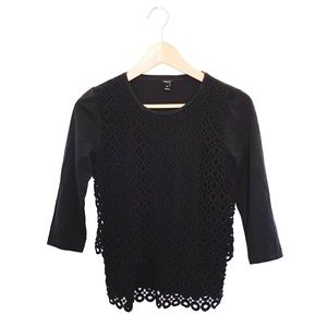 J. Crew Two Tier Circle Embroidered Front Blouse